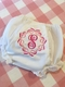 embroidered initial burp cloth with bows