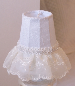 Embroidered Lace Chandelier shade