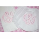 embroidered monogram diaper cover and burp cloth set