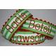 Embroidered Name Holiday Stripe Headband