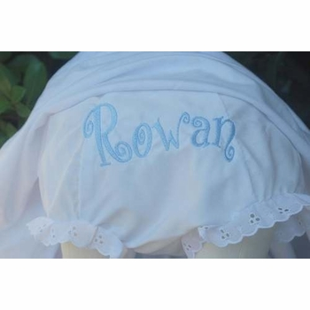 embroidered name monogrammed bloomers diaper cover panty - curly