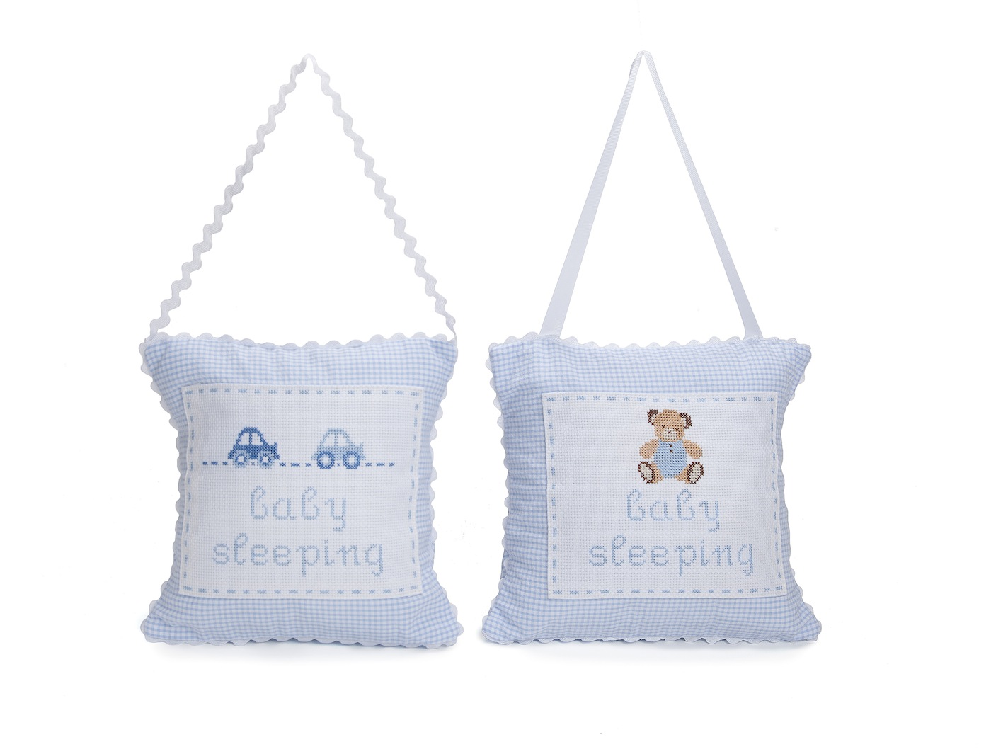 sc 1 st  BabyBox.com & embroidered personalized hanging door pillow - blue pezcame.com