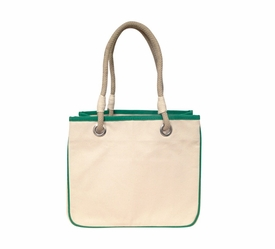 emerald accented rope tote