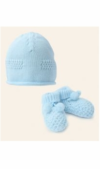 emile-et-rose baby hat and bootie gift set