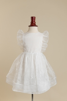 emma dress - white organza