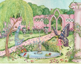enchanted garden blonde wall art