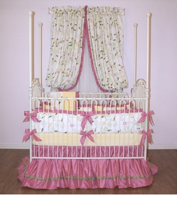 enchanted garden crib linens