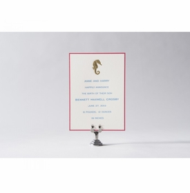engraved seahorse baby announcement - bennett maxwell