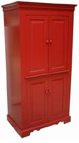 entertainment center red