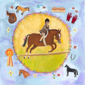 equestrian champion on lavender wall art