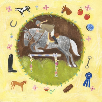 equestrian champion on yellow wall art