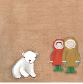 eskimo friends wall art by marisa haedike