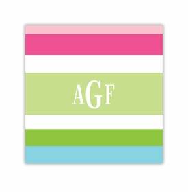 espadrille preppy square paper coaster<br>set of 50