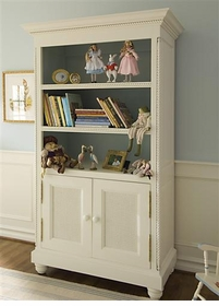 evan bookcase with doors