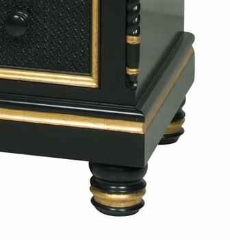 evan chest - black with gold gilding trim-out