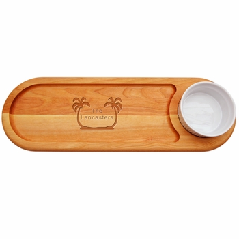 Everyday Board Dip & Serve Personalized Palm Trees