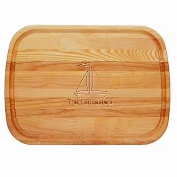 Everyday Board Large Personalized Sailboat