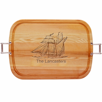Everyday Collection Large Tray Urban Handles Personalized Ship