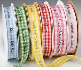everyday personalized printed ribbons