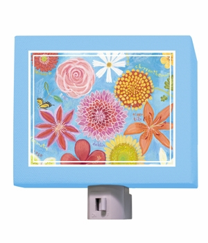 exotic flowers nightlight
