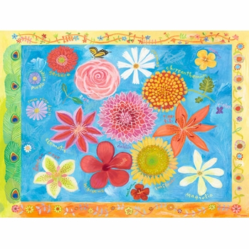 exotic flowers wall art