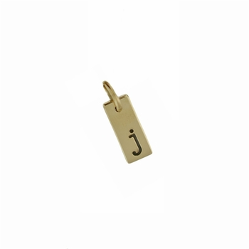 extra small 14k gold flat bar pendant