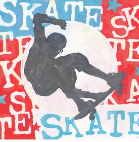 extreme sports skateboard wall art