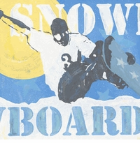 extreme sports snowboard wall art