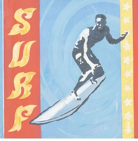 extreme sports surf wall art