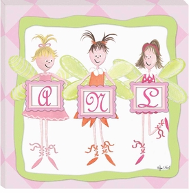 fairy monogram wall art