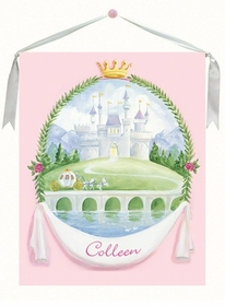 Fairytale Princess Castle Wall Hanging 30x36