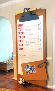 family calendar custom built wall board (please call for pricing)