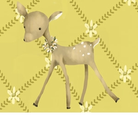 fancy fawn wall art canvas reproduction