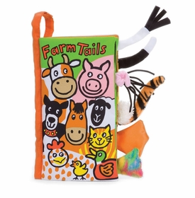 farm tails plush book by jelly cat