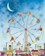 ferris wheel wall art by maria carluccio