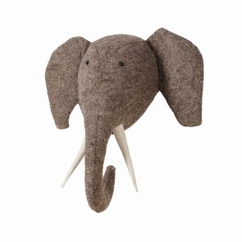 Fiona Walker England Elephant with Tusks Wall Decor