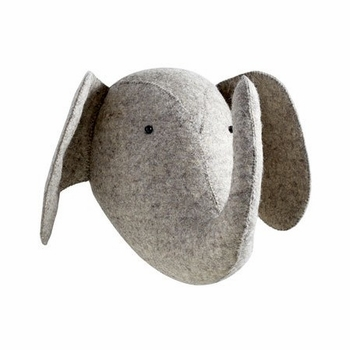 Fiona Walker England Light Grey Elephant Wall Decor