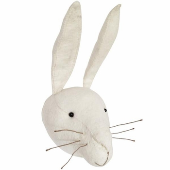 Fiona Walker England White Rabbit Head Wall Decor