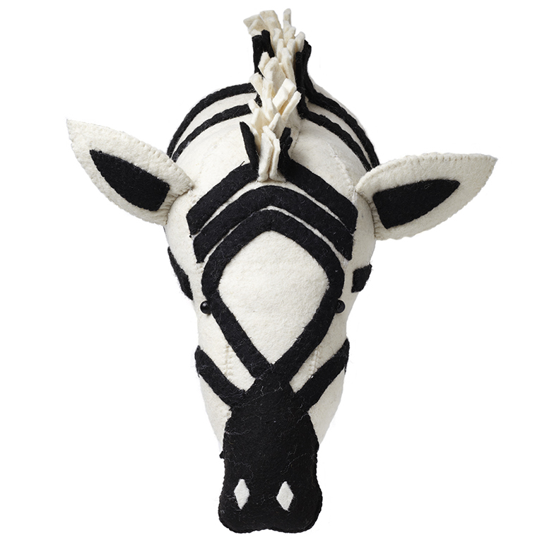 Zebra Head Wall Decor : Fiona walker england zebra head wall decor
