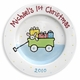 first christmas personalized plate  (boy)