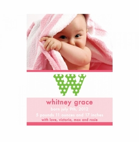 flat print baby announcement - the whitney