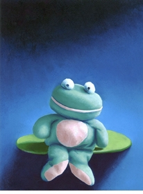 floppy froggy wall art canvas reproduction