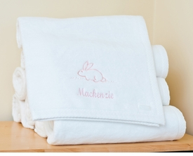 flopsy mopsy fluffy blanket personalized with name