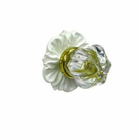 floret glass knob w/ gold post