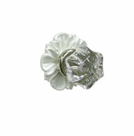 floret glass knob w/ silver post