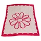 flower and scalloped edge baby blanket