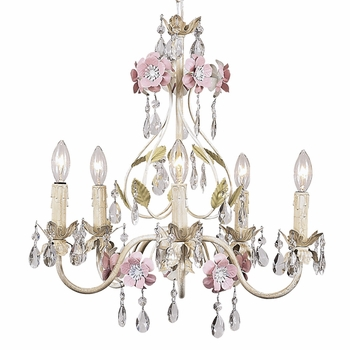 flower garden chandelier multi
