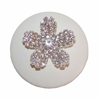 flower rhinestone drawer knob