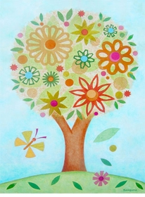 flower tree wall art