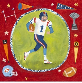 football star - boy - wall art